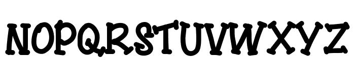 YBSingingTheBlues Font UPPERCASE