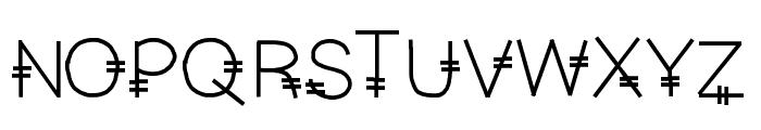 YBSoCrabby Font UPPERCASE