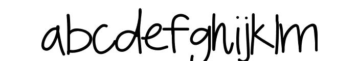 YBSomethingBlue Font LOWERCASE