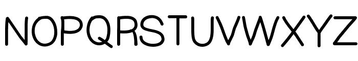 YBTallPretty Font UPPERCASE