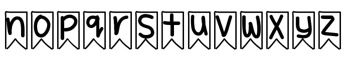 YBWhimsicalBanners Font LOWERCASE