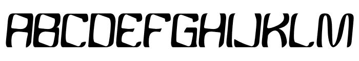YBandTuner-Regular Font UPPERCASE