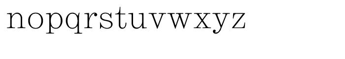 YD Myungjo 100 110 Font LOWERCASE