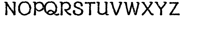 YD Reminiscence Medium Font UPPERCASE