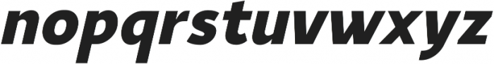 YE Paradigma ItalicBlack otf (900) Font LOWERCASE