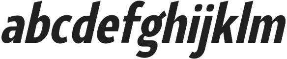 YE Paradigma ItalicBlackCondensed otf (900) Font LOWERCASE