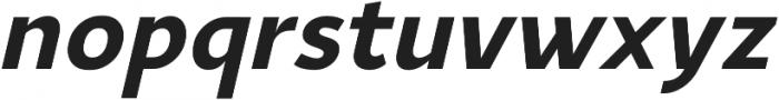YE Paradigma ItalicBold otf (700) Font LOWERCASE