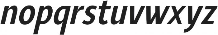 YE Paradigma ItalicBoldCondensed otf (700) Font LOWERCASE