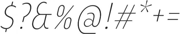 YE Paradigma ItalicExtraLightCondensed otf (200) Font OTHER CHARS