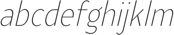 YE Paradigma ItalicExtraLightCondensed otf (200) Font LOWERCASE