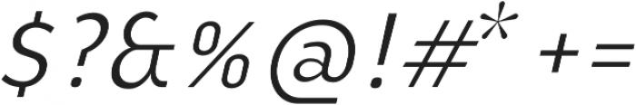 YE Paradigma ItalicLight otf (300) Font OTHER CHARS