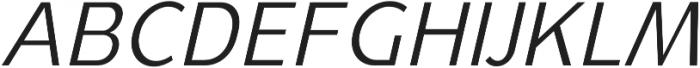 YE Paradigma ItalicLight otf (300) Font UPPERCASE
