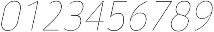 YE Paradigma ItalicThin otf (100) Font OTHER CHARS