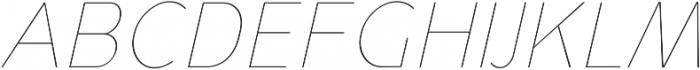 YE Paradigma ItalicThin otf (100) Font UPPERCASE