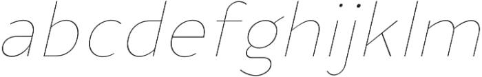 YE Paradigma ItalicThin otf (100) Font LOWERCASE