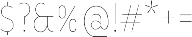 YE Paradigma ThinCondensed otf (100) Font OTHER CHARS