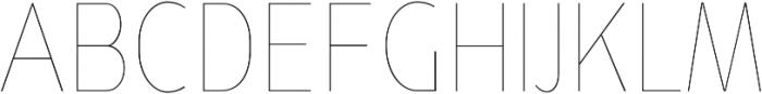 YE Paradigma ThinCondensed otf (100) Font UPPERCASE
