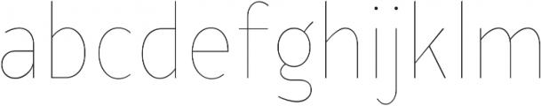 YE Paradigma ThinCondensed otf (100) Font LOWERCASE