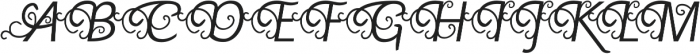 Yellande Regular otf (400) Font UPPERCASE