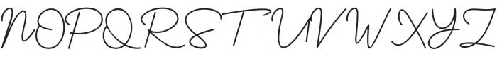 Yesie Regular otf (400) Font UPPERCASE