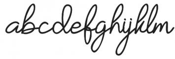 Yesie Regular otf (400) Font LOWERCASE