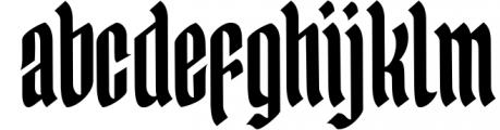 Yerington Typeface Font LOWERCASE