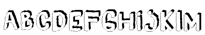 YES_3D Book Font LOWERCASE