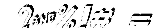 YES_3Ditalic Book Font OTHER CHARS