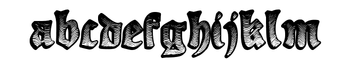 Ye Olde Oak Font LOWERCASE