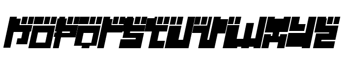 Year 2000 Replicant Font LOWERCASE