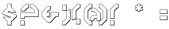 Year 3000 Outline Font OTHER CHARS
