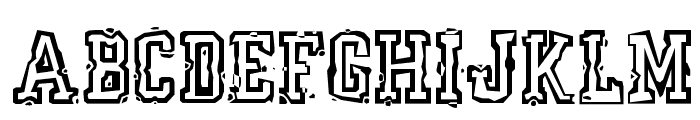 YearBookMess Font UPPERCASE