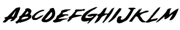 Yellowjacket Italic Font UPPERCASE