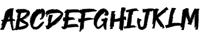 Yenoh Brush Font UPPERCASE