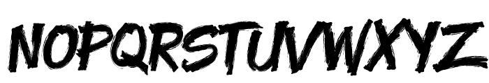 Yenoh Brush Font LOWERCASE