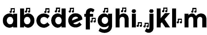 YentNotes Cacophony Font LOWERCASE
