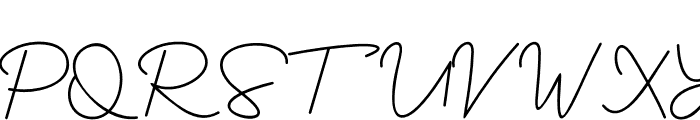 Yesie Font UPPERCASE