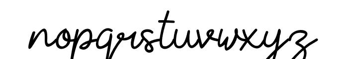 YesieRegular Font LOWERCASE