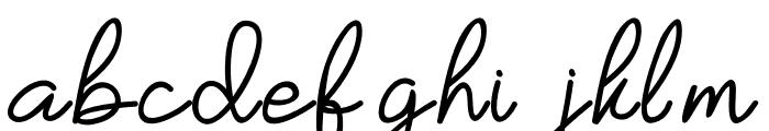 Yesie Font LOWERCASE