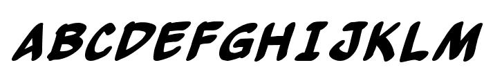 Yew Basturd BoldItalic Font UPPERCASE