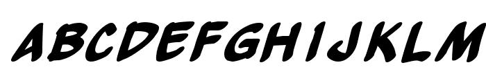 Yew Basturd BoldItalic Font LOWERCASE