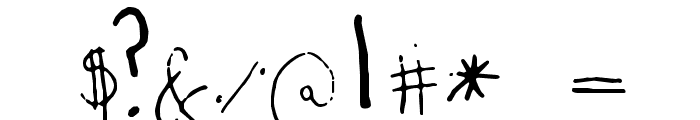 yexivela Font OTHER CHARS