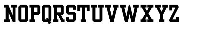 Yearbook Solid Font LOWERCASE
