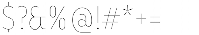 Ye Paradigma Condensed Thin Font OTHER CHARS