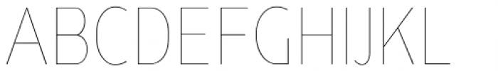 Ye Paradigma Condensed Thin Font UPPERCASE