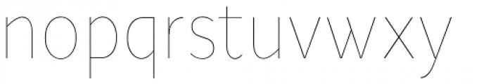 Ye Paradigma Condensed Thin Font LOWERCASE