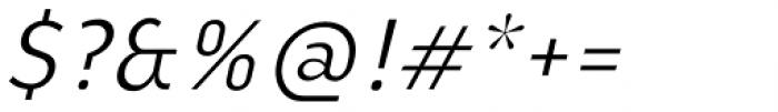 Ye Paradigma Regular Italic Font OTHER CHARS