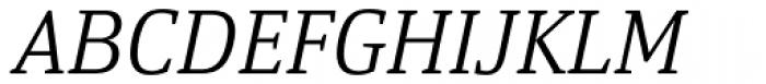 Yefimov Serif Light Italic Font UPPERCASE