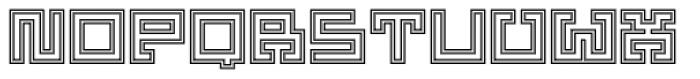 Yekuana Pro Outline Font UPPERCASE