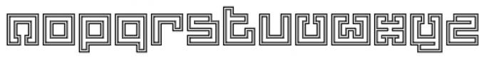 Yekuana Pro Outline Font LOWERCASE